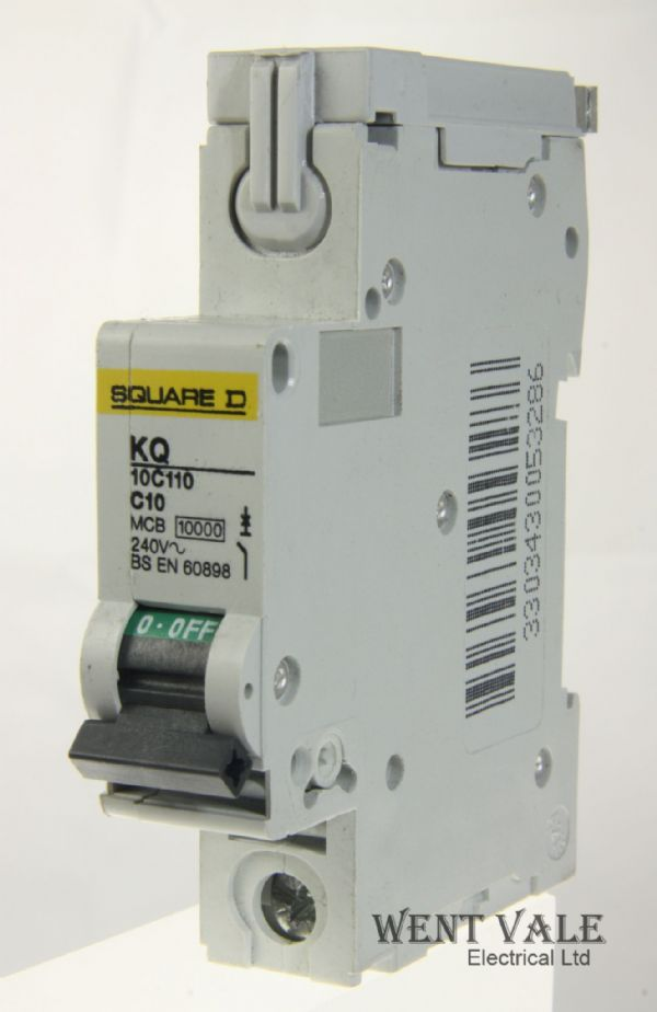 Square D Loadcentre - KQ10C110 - 10a Type C Single Pole MCB Used